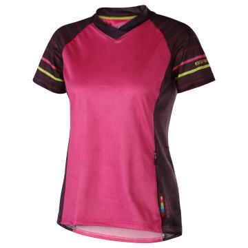 Louis Garneau Women's Sweep Cycle Jersey - Pink Glow/Magenta Purple