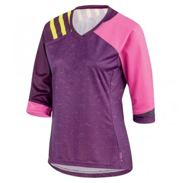 Louis Garneau Women's J-Bar Cycle Jersey - Magenta Purple/Pink Glow/Shira