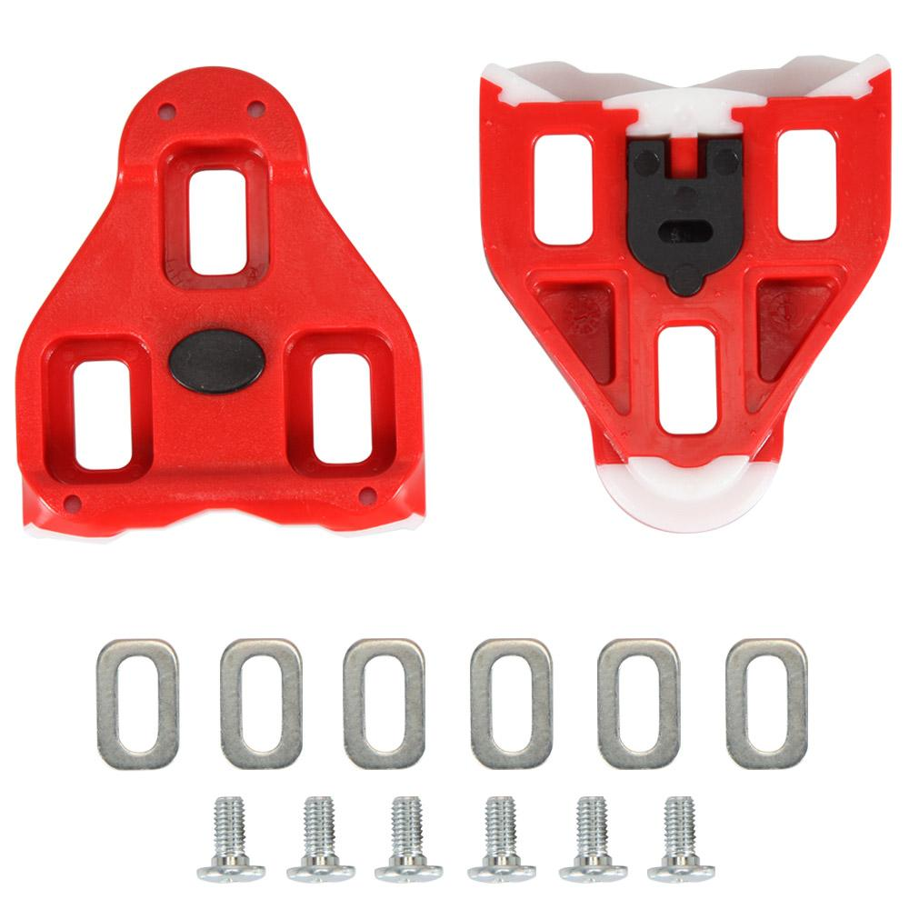 Delta Replacement Cleats - Red 9deg Float (Pair)