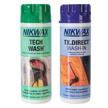 Nikwax Tech Wash and TX Direct Wash-In Package