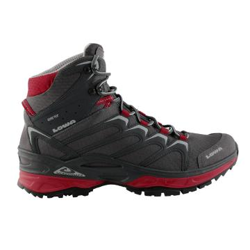 Lowa Men's Innox GTX MID Hiking Boots - Graphite/Red