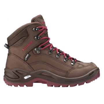 Lowa Women's Renegade GTX Mid Hiking Boots - Espresso/Berry