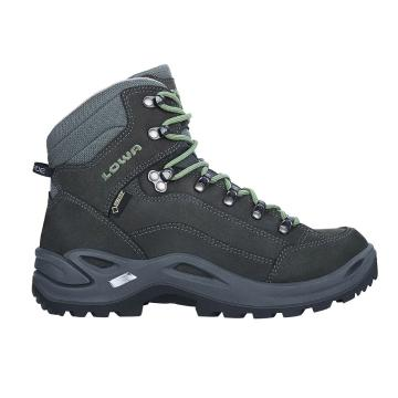 Lowa Women's Renegade Gore-Tex Mid Hiking Boots - Graphite/Jade