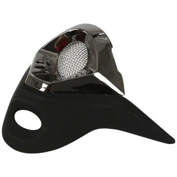 One Industries Trooper Mouth Vent - Black/Black Chrome
