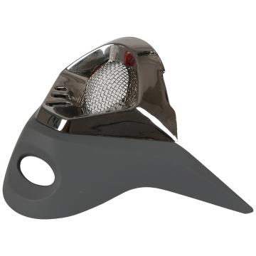 One Industries Trooper Mouth Vent - Grey/Black Chrome