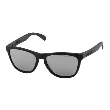 Oakley Frogskins Machinist Sunglasses - Matte Black w/Chrome Iridium