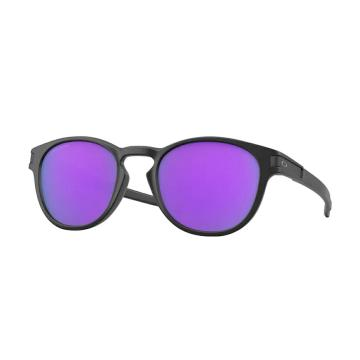 Oakley 2021 Latch Sunglasses - Matte Black w/ PRIZM Violet