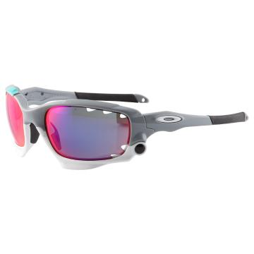 Oakley Racing Jacket - Polished Fog/ +Red Irid Vent and Blk