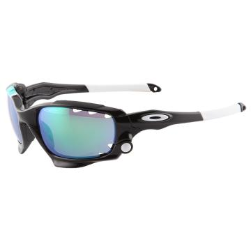 Oakley Racing Jacket - Polished Black/Jade Irid Vented