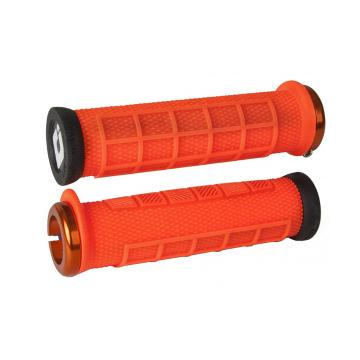ODI Elite Flow v2.1 Lock-On Grips - Brt Orange/Black