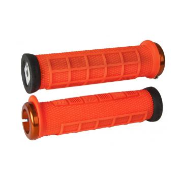 ODI Elite PRO v2.1 Lock-On Grips - Brt Orange/Black
