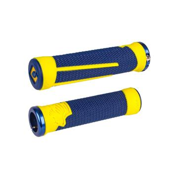 ODI Ag-2 V2.1 Grips - Midnight Blue/Cyber Yellow