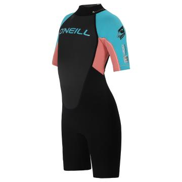 O'Neill Youth Reactor 2mm Spring Suit - Black/LTGF/LT Aqua
