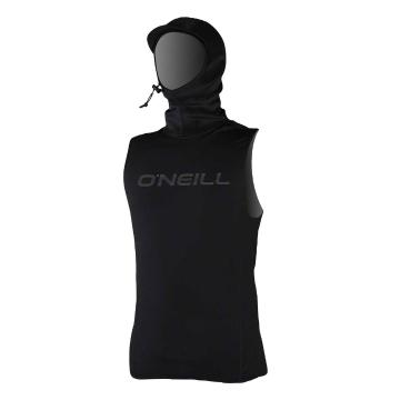 O'Neill Men's Thermo X Vest with Neo Hood  - Black