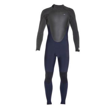 O'Neill Men's Defender Back Zip 4/3 Wetsuit -  Abhyss/Hblk/Hblk