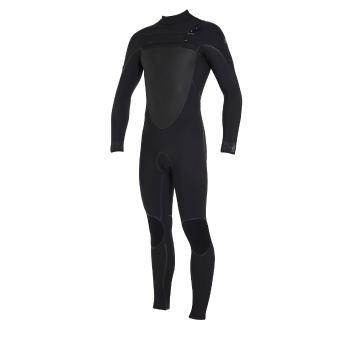 O'Neill Men's Psycho Tech Chest Zip Full 4/3mm Wetsuit - Blk/Blk