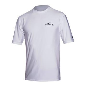 O'Neill 2021 Men's Basic Skins Short Sleeve Rash Tee  - Cool Grey