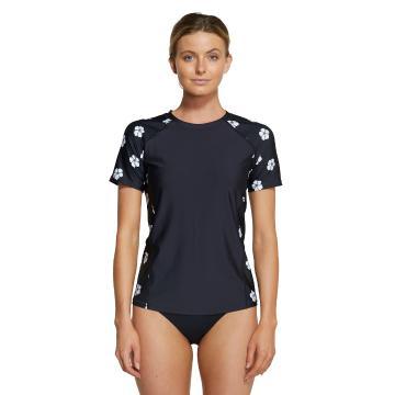 O'Neill 2021 Women's Coast Short Sleeve Loose Tee - Black/Daisy