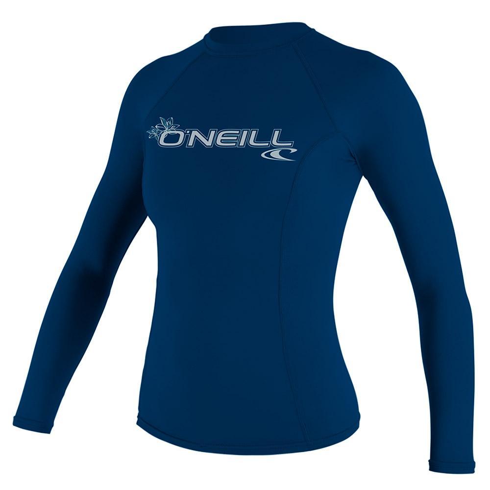 Women's Basic Skins Long Sleeve Crew Rash Shirt