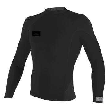 O'Neill Men's Superfreak 1mm Long Sleeve Crew Wetsuit Top - Stealth Black