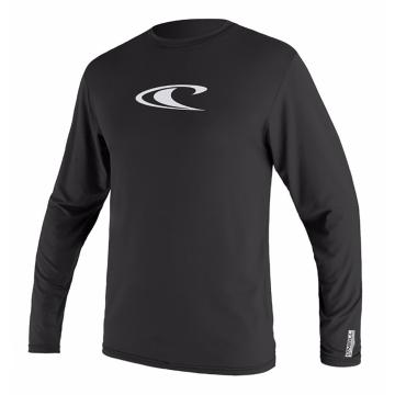 O'Neill Men's Basic Skins Long Sleeve Rash Top - Black