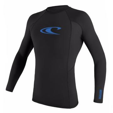 O'Neill Youth Basic Long Sleeve Skins Crew Rash Top - 4/14 Years - Black