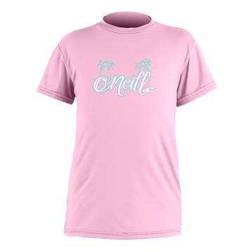 O'Neill Girls Toddler Skins SS Rash Tee - Pink