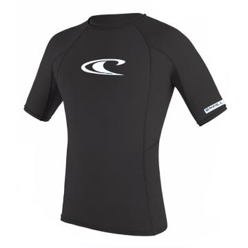 O'Neill Youth Basic Short Sleeve Skins Crew Rash Top - 4/14 Years - Black