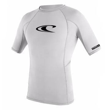 O'Neill Youth Basic Short Sleeve Skins Crew Rash Top - 4/14 Years - White