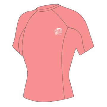 O'Neill Womens Basic Skins Short Sleeve Crew - LT Grapefruit