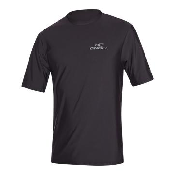 O'Neill Men's Basic Skins Short Sleeve Rash Tee - Black
