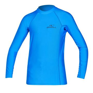 O'Neill Youth Basic Skins Long Sleeve Crew - Brite Blue