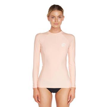 O'Neill Women's Basic Skins Long Sleeve Crew - Peach Pink