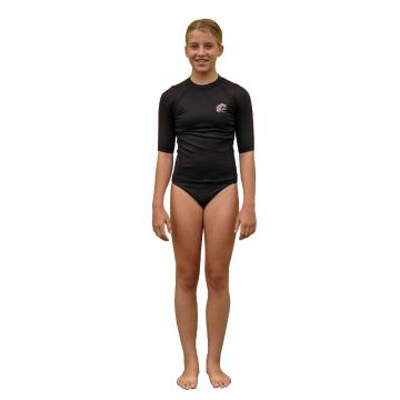 O'Neill Girls Thermo Short Sleeve Skins - Black