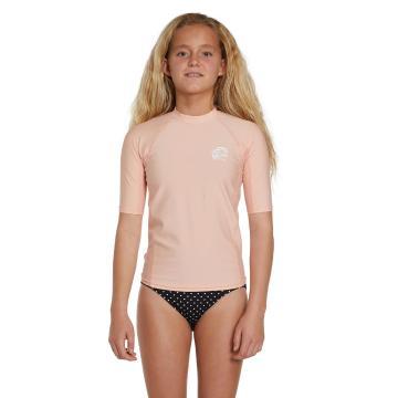 O'Neill Girls Basic Short Sleeve Skins - Peach Pink