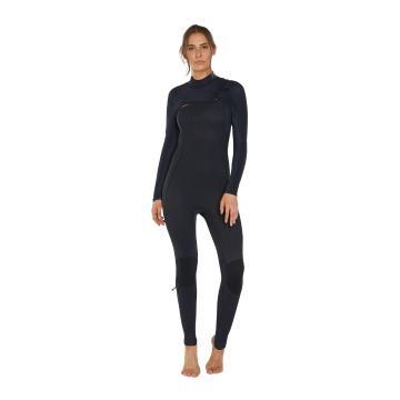 O'Neill Women's Hyperfreak Chest Zip Full 4/3+mm Wetsuit - Black