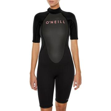 O'Neill Womens Reactor II 2MM Spring Suit - Blk/Blk/Blk