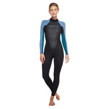 O'Neill Women's Reactor II 3/2mm Wetsuit - Blk/Ctl/DBlue