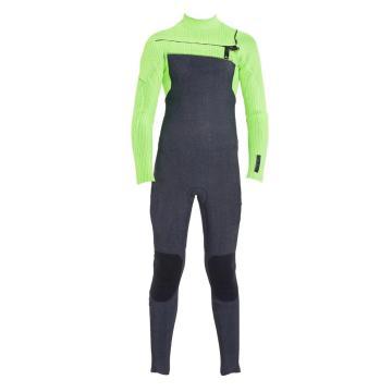 O'Neill 2020 Youth Hyperfreak Chest Zip 4/3 Fuze Steamer Wetsuit - Acidwash/Dglo/Dglo