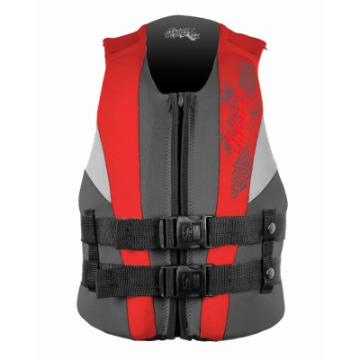 O'Neill Youth Reactor USCG Vest - Coal Red Flint