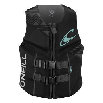 O'Neill Women's Reactor USCG Wake Vest - Blk/Blk/Blk