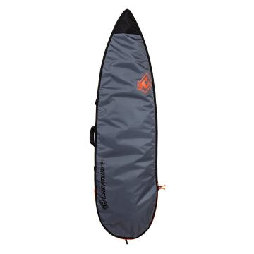 Creatures of Leisure 6'7 Shortboard Lite Board Bag - Charcoal Orange