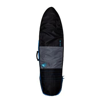 """Creatures of Leisure 6'7"""""""" Fish Day Use Surf Bag - Charcoal/Cyan"""