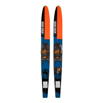 Radar Origin 67in + Adj Horseshoe Bindings Combo - Black/Blue/Orange