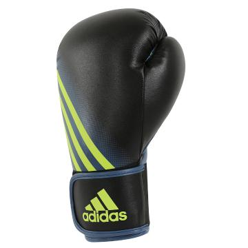 Adidas Fitness Speed 100 Boxing Gloves - Black/ Solar Yellow