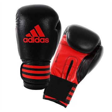 Adidas Fitness Power100 Boxing Gloves - Black/Red