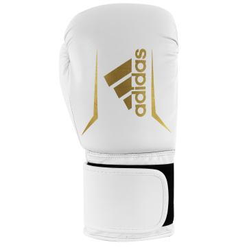 Adidas Fitness Speed 50 Boxing Glove - White/Gold