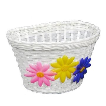 OnTrack Junior Basket With Flowers - White