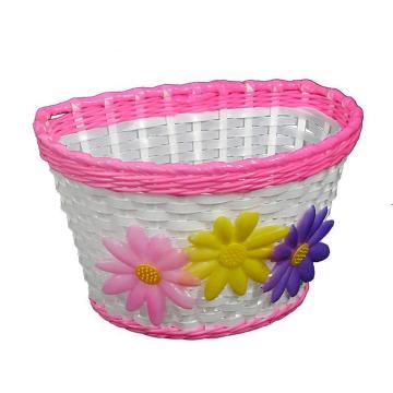 OnTrack Junior Kids Basket - White/Pink Trim