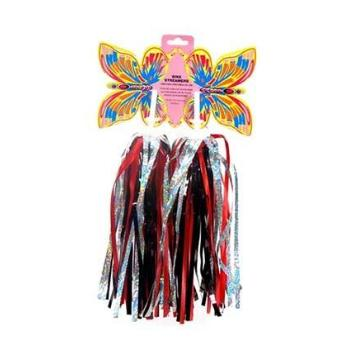 OnTrack Kids Handlebar Tassels - Red/Black/Silver